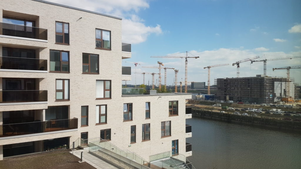 Jufa Hotel Hamburg Hafencity Aussicht auf die Hafencity
