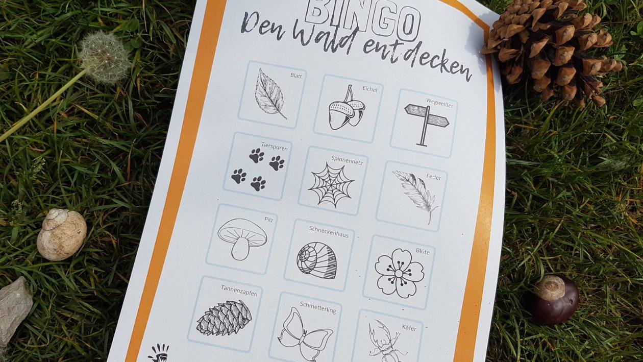 Waldbingo - Vorlage als PDF Freebie